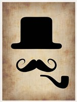 Hat Glasses and Mustache 4 Fine Art Print