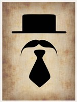 Hat Glasses and Mustache 5 Fine Art Print