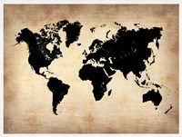 Vintage World Map Fine Art Print