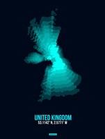 United Kingdom Radiant Map 2 Fine Art Print