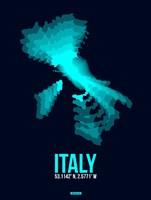 Italy Radiant Map 1 Fine Art Print