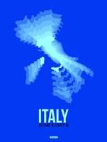 Italy Radiant Map 4 Fine Art Print