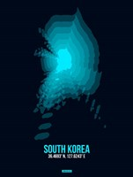 South Korea Radiant Map 2 Fine Art Print