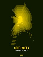 South Korea Radiant Map 3 Fine Art Print