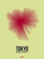 Tokyo Radiant Map 1 Fine Art Print