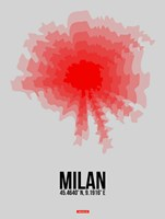 Milan Radiant Map 1 Fine Art Print