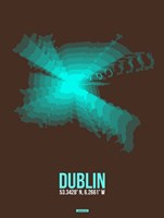 Dublin Radiant Map 2 Fine Art Print