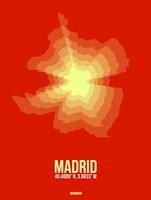 Madrid Radiant Map 4 Fine Art Print