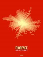 Florence Radiant Map 1 Fine Art Print