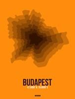 Budapest Radiant Map 4 Fine Art Print
