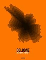 Cologne Radiant Map 4 Fine Art Print