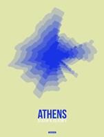 Athens Radiant Map 4 Fine Art Print