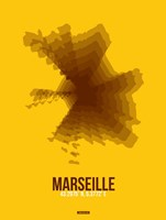 Marseille Radiant Map 3 Fine Art Print