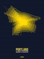 Portland Radiant Map 4 Fine Art Print