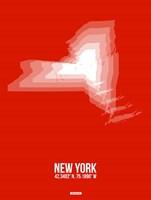 New York Radiant Map 3 Fine Art Print