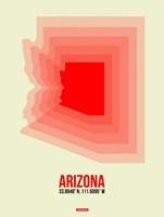 Arizona Radiant Map 1B Fine Art Print