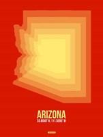 Arizona Radiant Map 3B Fine Art Print
