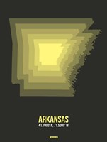 Arkansas Radiant Map 5 Fine Art Print