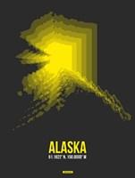 Alaska Radiant Map 4 Fine Art Print