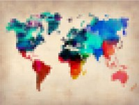 Pixelated World Map Fine Art Print