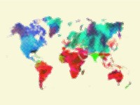 Dotted World Map 4 Fine Art Print