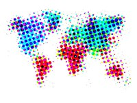 Dotted World Map 6 Fine Art Print