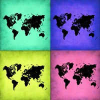 Pop Art World Map 2 Fine Art Print