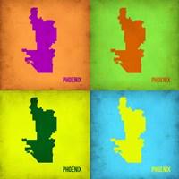Phoenix Pop Art Map 1 Fine Art Print