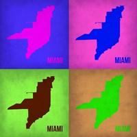 Miami Pop Art Map 1 Fine Art Print