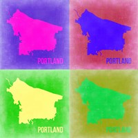 Portland Pop Art Map 2 Fine Art Print
