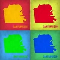 San Francisco Pop Art Map 1 Fine Art Print