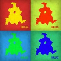 Dallas Pop Art Map 1 Fine Art Print