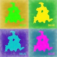 Dallas Pop Art Map 2 Fine Art Print
