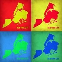 New York Pop Art Map 1 Fine Art Print