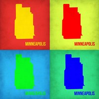 Minneapolis Pop Art Map 1 Fine Art Print
