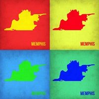Memphis Pop Art Map 1 Fine Art Print