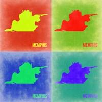 Memphis Pop Art Map 2 Fine Art Print