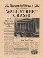 Wall Street Crash! Fine Art Print