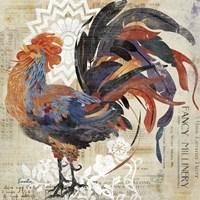 Rooster Flair V Fine Art Print