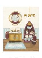 Nautical Bath II Framed Print