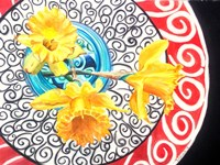 Flower on Plate II Fine Art Print