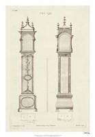 Chippendale Clock Cases I Fine Art Print