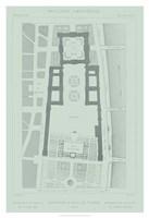 Mint & Slate Garden Plan I Framed Print