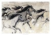 Horses in Motion I Framed Print