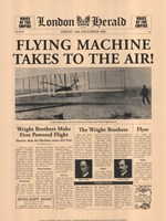 Flying Machine Takes to the Air! Fine Art Print