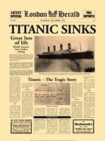 Titanic Sinks Framed Print