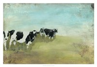 Country Drive Cows II Fine Art Print