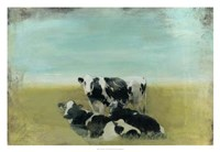 Country Drive Cows III Framed Print