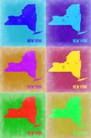 New York Pop Art Map 2 Fine Art Print