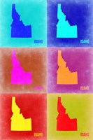 Idaho Pop Art Map 2 Fine Art Print